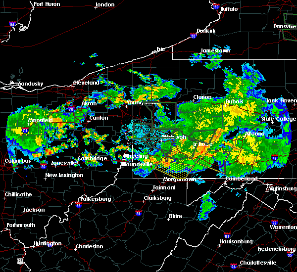 Radar Image for Severe Thunderstorms near Oliver, PA at 6/14/2015 11:04 PM EDT