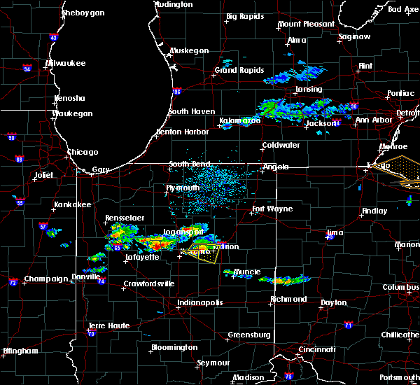 Radar Image for Severe Thunderstorms near Landess, IN at 5/30/2019 4:23 PM EDT