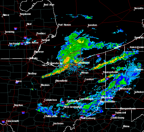 Radar Image for Severe Thunderstorms near Sheffield Lake, OH at 5/30/2019 4:59 PM EDT