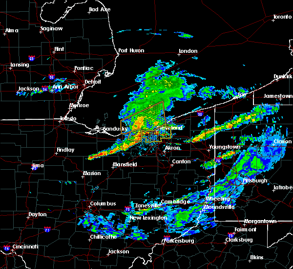 Radar Image for Severe Thunderstorms near Broadview Heights, OH at 5/30/2019 5:02 PM EDT