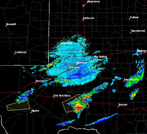 Radar Image for Severe Thunderstorms near Fort Davis, TX at 5/30/2019 4:07 PM CDT