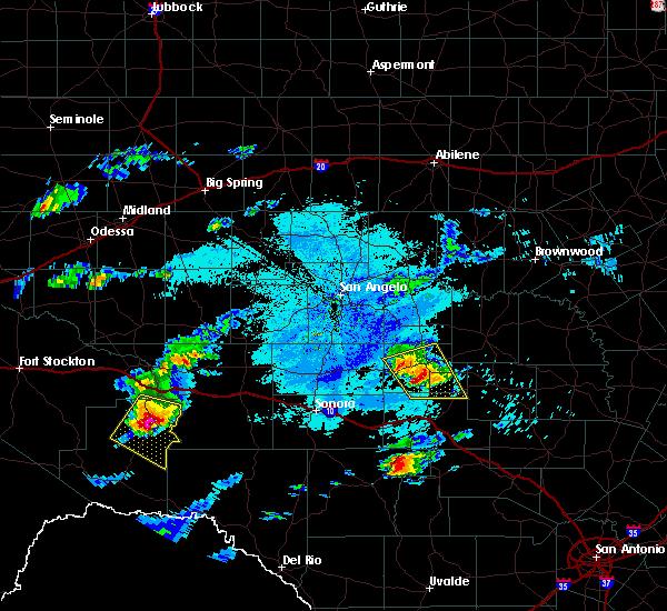 Radar Image for Severe Thunderstorms near Menard, TX at 5/30/2019 4:21 PM CDT