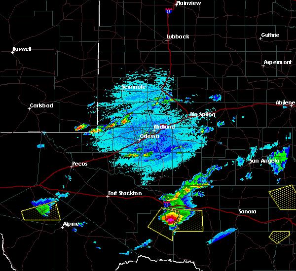 Radar Image for Severe Thunderstorms near Fort Davis, TX at 5/30/2019 4:40 PM CDT