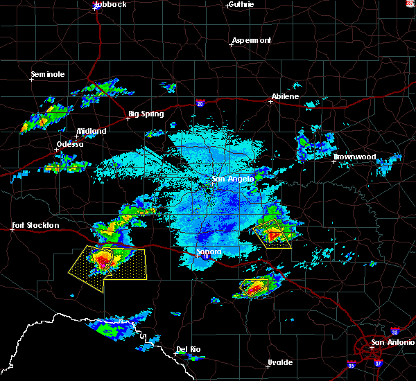 Radar Image for Severe Thunderstorms near Menard, TX at 5/30/2019 4:43 PM CDT