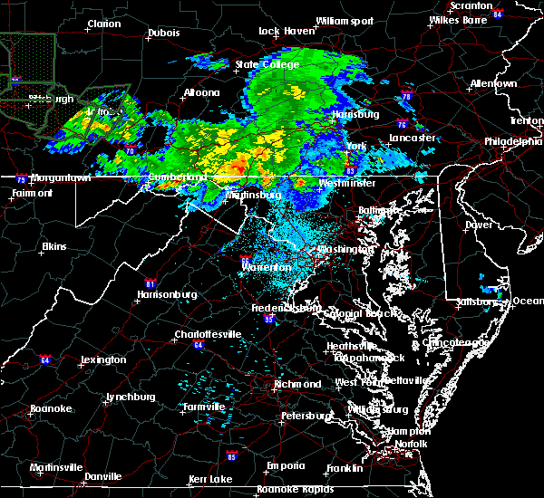 Radar Image for Severe Thunderstorms near Chewsville, MD at 6/15/2015 1:30 AM EDT