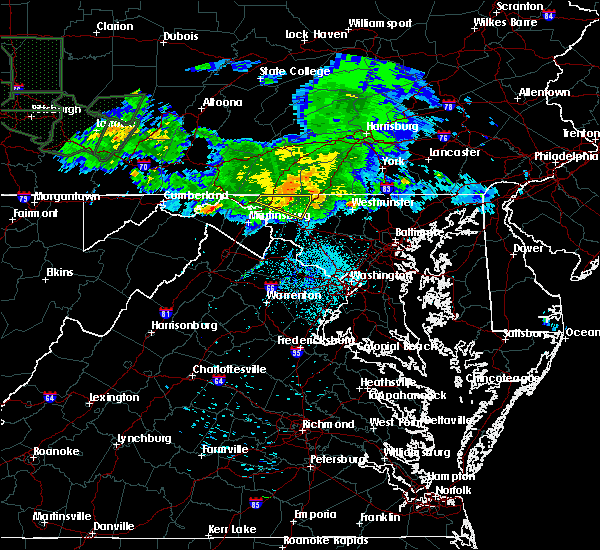 Radar Image for Severe Thunderstorms near Chewsville, MD at 6/15/2015 1:49 AM EDT