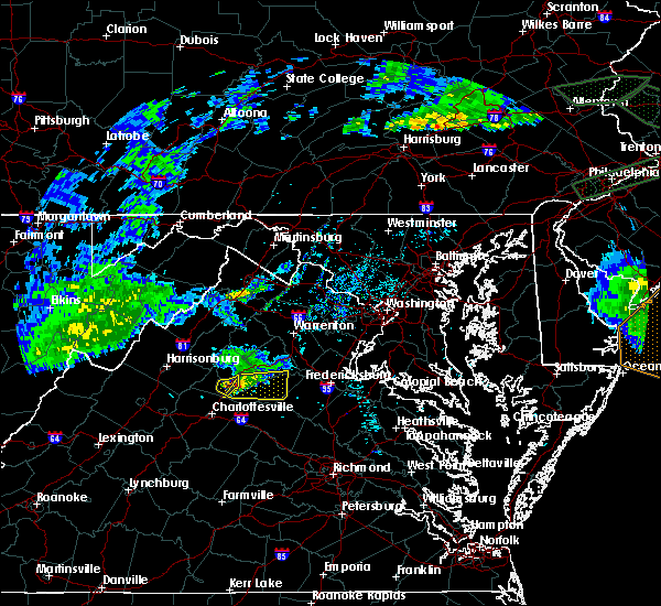 Radar Image for Severe Thunderstorms near Orange, VA at 5/30/2019 6:37 PM EDT