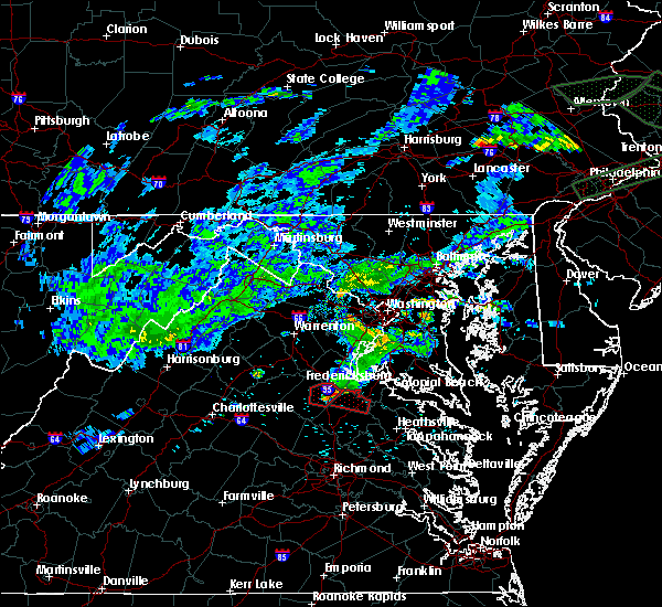 Radar Image for Severe Thunderstorms near Port Royal, VA at 5/30/2019 7:43 PM EDT