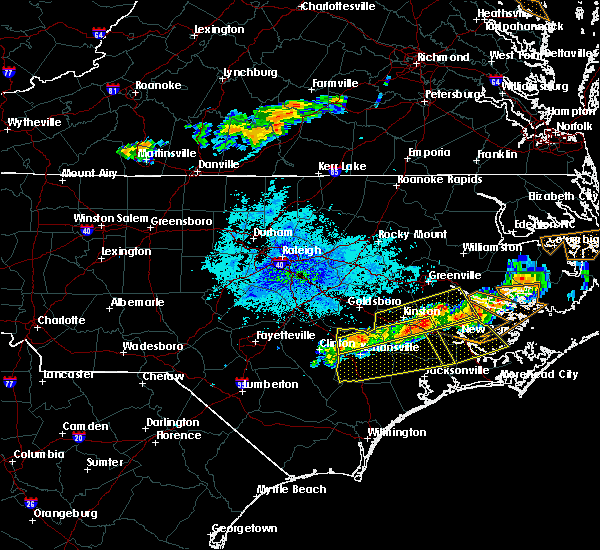 Radar Image for Severe Thunderstorms near Dover, NC at 5/30/2019 8:57 PM EDT