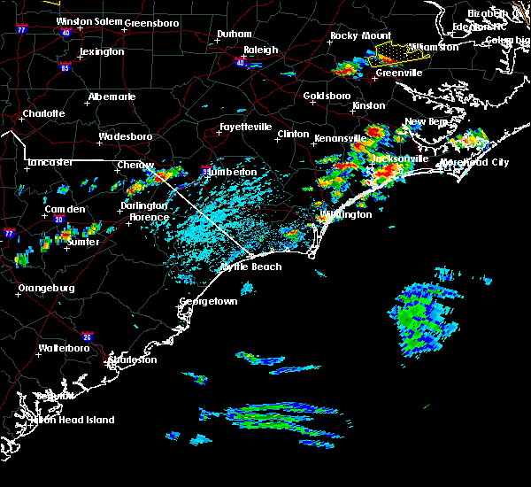 Radar Image for Severe Thunderstorms near Pembroke, NC at 5/31/2019 2:07 PM EDT