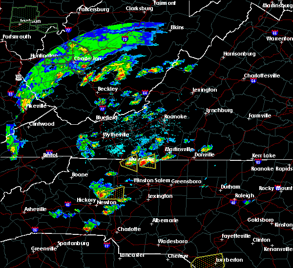 Radar Image for Severe Thunderstorms near Taylorsville, NC at 5/31/2019 2:31 PM EDT