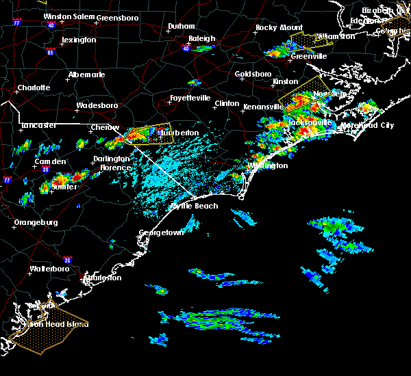 Radar Image for Severe Thunderstorms near Pembroke, NC at 5/31/2019 2:37 PM EDT