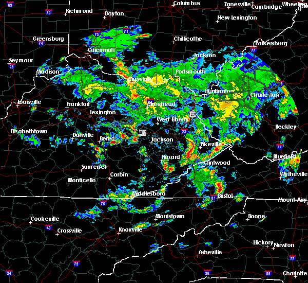 Radar Image for Severe Thunderstorms near Pikeville, KY at 5/31/2019 3:26 PM EDT