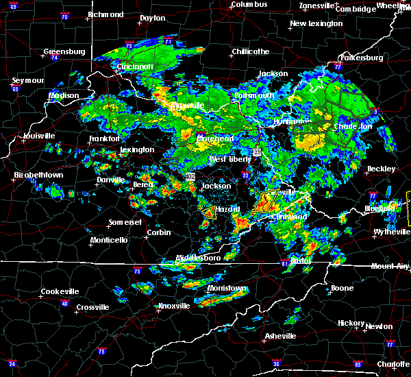 Radar Image for Severe Thunderstorms near Pikeville, KY at 5/31/2019 3:48 PM EDT