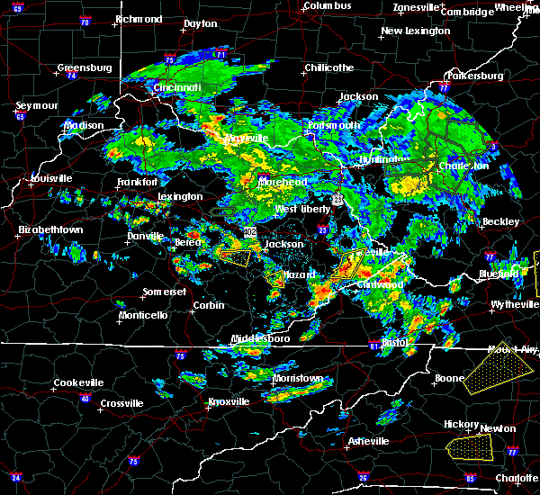 Radar Image for Severe Thunderstorms near Pikeville, KY at 5/31/2019 3:57 PM EDT