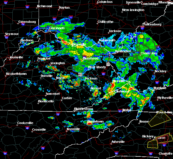 Radar Image for Severe Thunderstorms near Booneville, KY at 5/31/2019 4:22 PM EDT