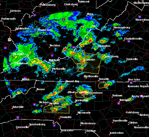 Radar Image for Severe Thunderstorms near Elkin, NC at 5/31/2019 4:48 PM EDT