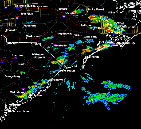 Radar Image for Severe Thunderstorms near Tabor City, NC at 5/31/2019 4:56 PM EDT