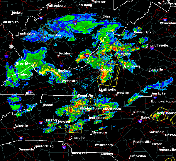 Radar Image for Severe Thunderstorms near Elkin, NC at 5/31/2019 5:10 PM EDT