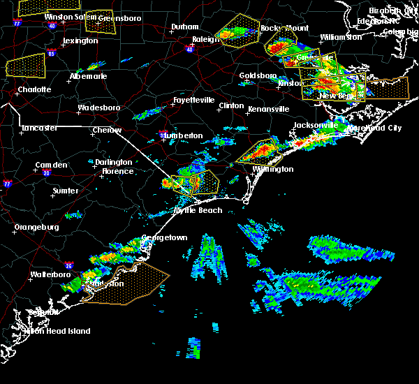 Radar Image for Severe Thunderstorms near Shallotte, NC at 5/31/2019 5:11 PM EDT