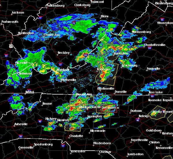 Radar Image for Severe Thunderstorms near Goshen, VA at 5/31/2019 5:15 PM EDT