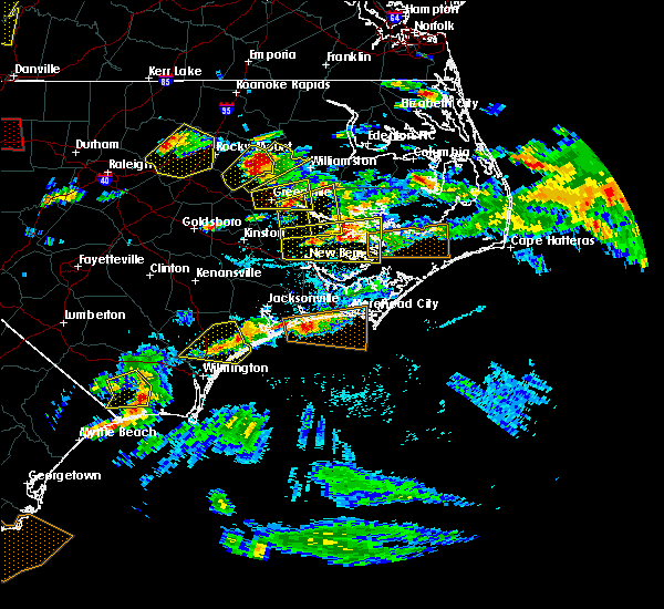 Radar Image for Severe Thunderstorms near Jacksonville, NC at 5/31/2019 5:32 PM EDT