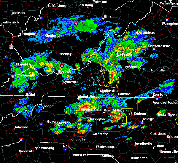 Radar Image for Severe Thunderstorms near Union Hall, VA at 5/31/2019 5:37 PM EDT