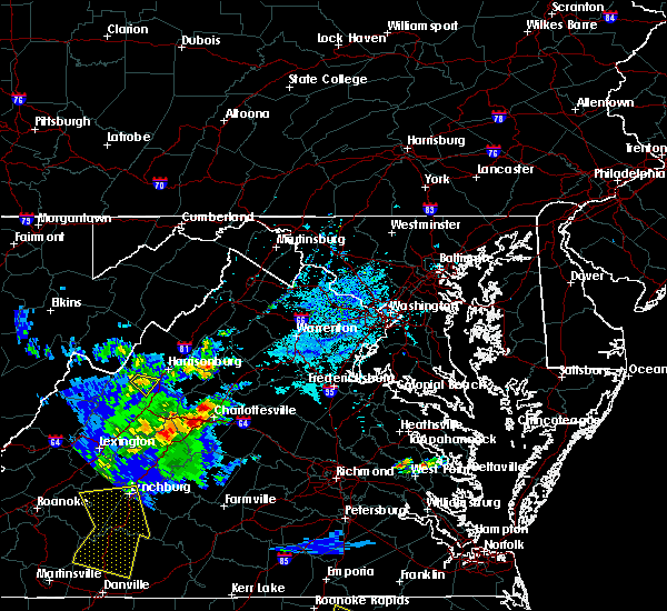 Radar Image for Severe Thunderstorms near Mount Crawford, VA at 5/31/2019 6:00 PM EDT