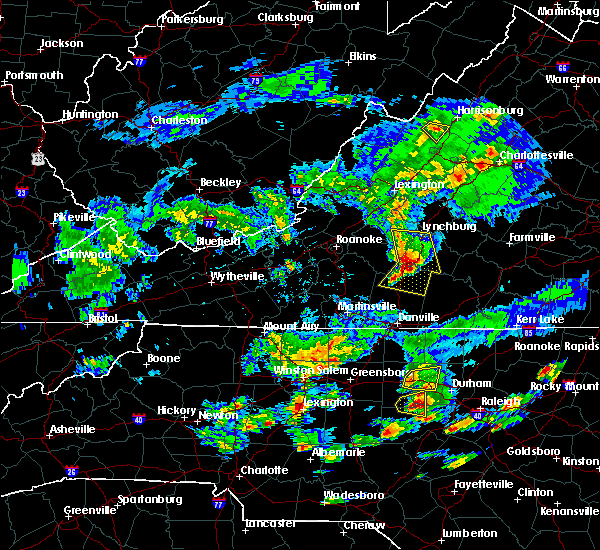 Radar Image for Severe Thunderstorms near Timberlake, VA at 5/31/2019 6:07 PM EDT