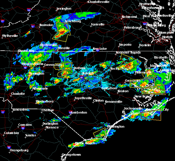 Radar Image for Severe Thunderstorms near Pittsboro, NC at 5/31/2019 6:09 PM EDT