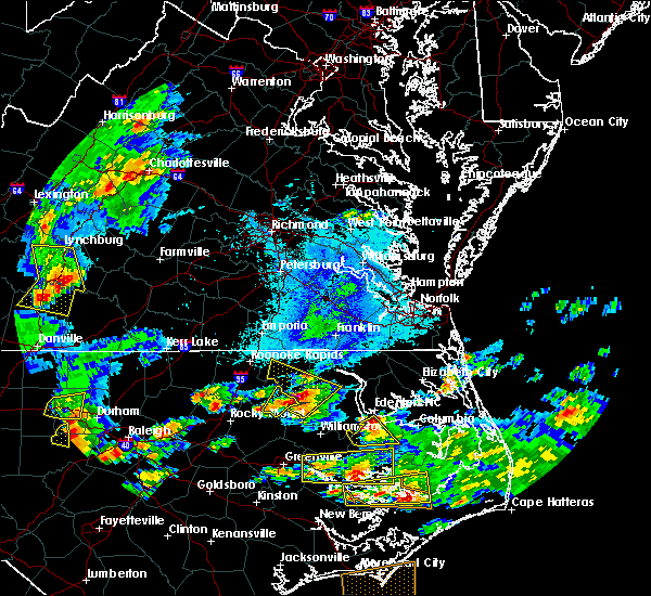 Radar Image for Severe Thunderstorms near Lasker, NC at 5/31/2019 6:12 PM EDT