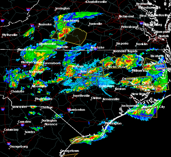 Radar Image for Severe Thunderstorms near Wilson, NC at 5/31/2019 6:24 PM EDT