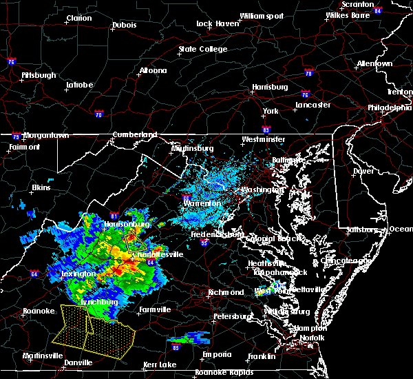 Radar Image for Severe Thunderstorms near Hollymead, VA at 5/31/2019 6:29 PM EDT