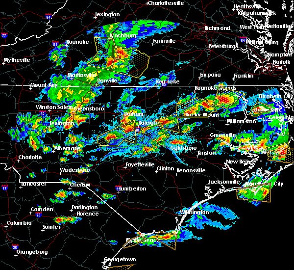 Radar Image for Severe Thunderstorms near Wilson, NC at 5/31/2019 6:38 PM EDT