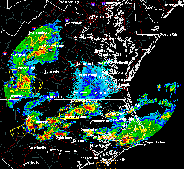 Radar Image for Severe Thunderstorms near Lasker, NC at 5/31/2019 6:43 PM EDT