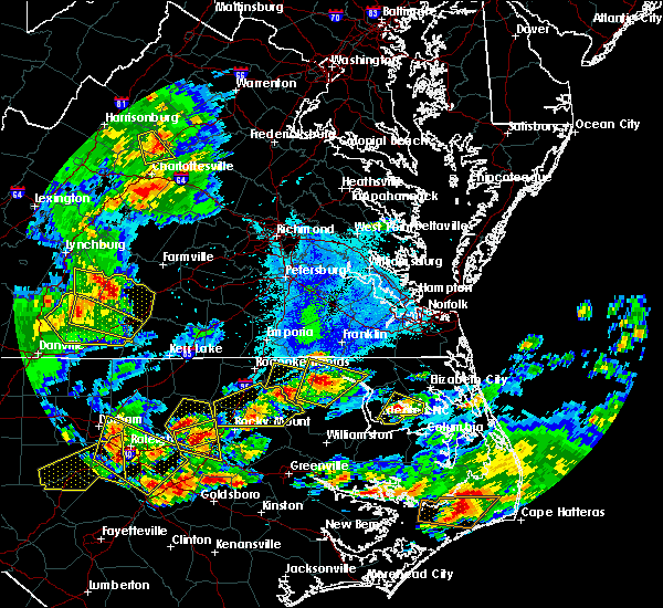Radar Image for Severe Thunderstorms near Halifax, NC at 5/31/2019 6:51 PM EDT