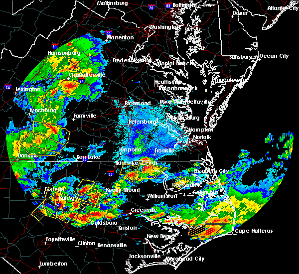 Radar Image for Severe Thunderstorms near Windsor, VA at 5/31/2019 7:02 PM EDT