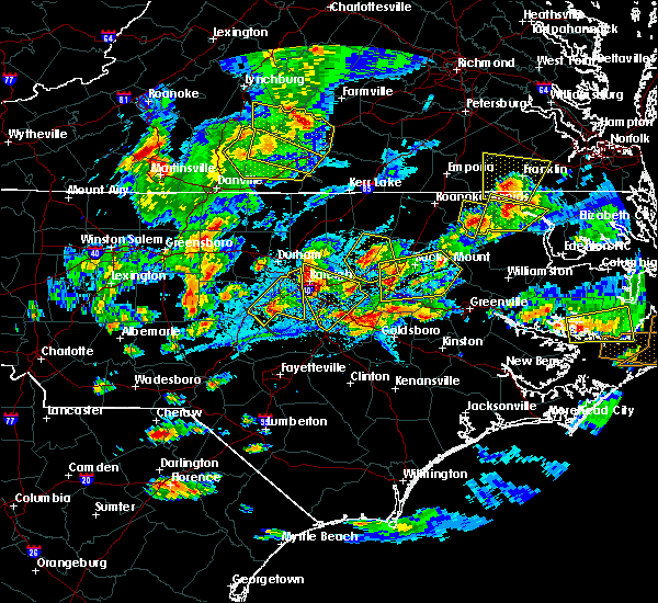 Radar Image for Severe Thunderstorms near Wilson, NC at 5/31/2019 7:09 PM EDT
