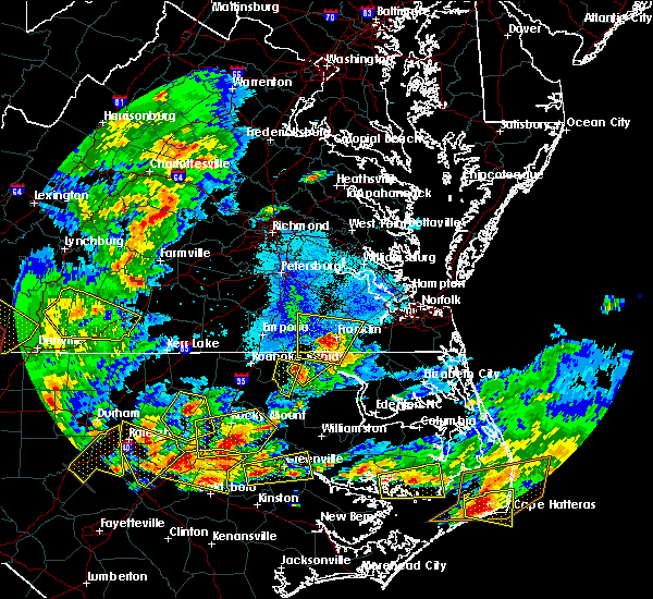 Radar Image for Severe Thunderstorms near Lasker, NC at 5/31/2019 7:22 PM EDT