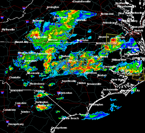 Radar Image for Severe Thunderstorms near Kenly, NC at 5/31/2019 7:22 PM EDT