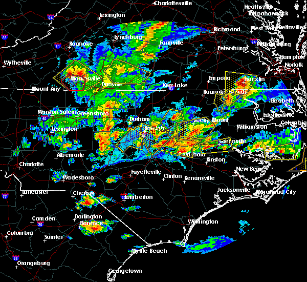 Radar Image for Severe Thunderstorms near Moncure, NC at 5/31/2019 7:28 PM EDT
