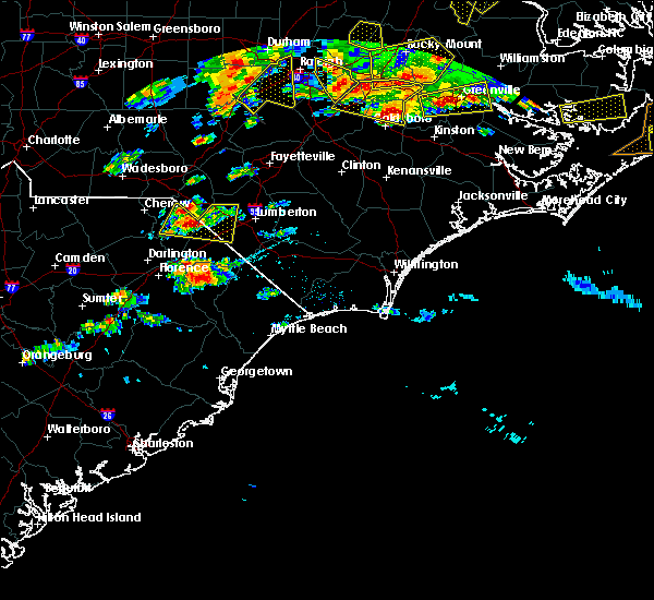 Radar Image for Severe Thunderstorms near Pembroke, NC at 5/31/2019 7:31 PM EDT