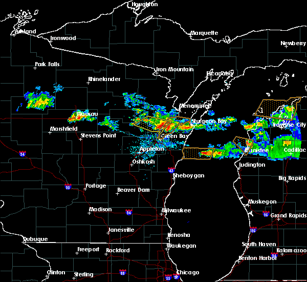 Radar Image for Severe Thunderstorms near Abrams, WI at 5/31/2019 6:37 PM CDT