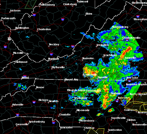 Radar Image for Severe Thunderstorms near Union Hall, VA at 5/31/2019 7:41 PM EDT