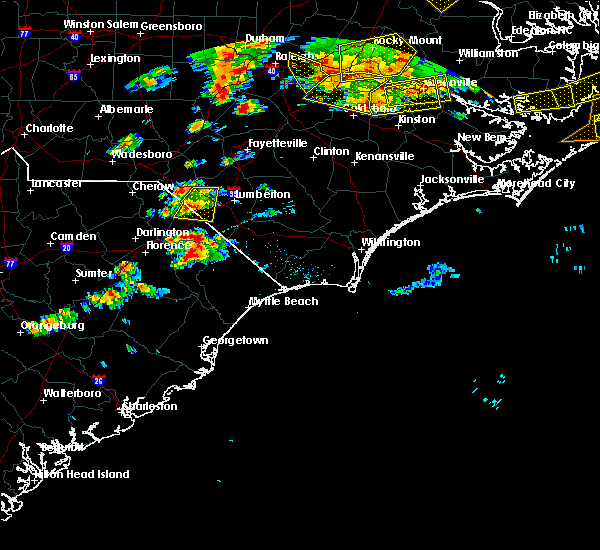 Radar Image for Severe Thunderstorms near Pembroke, NC at 5/31/2019 7:46 PM EDT