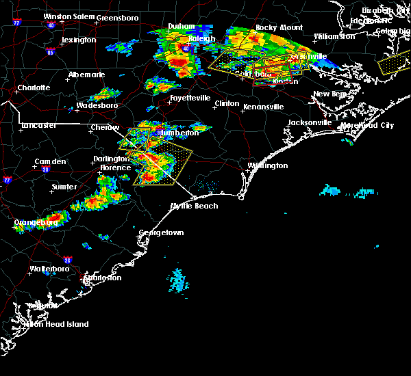 Radar Image for Severe Thunderstorms near Orrum, NC at 5/31/2019 8:05 PM EDT