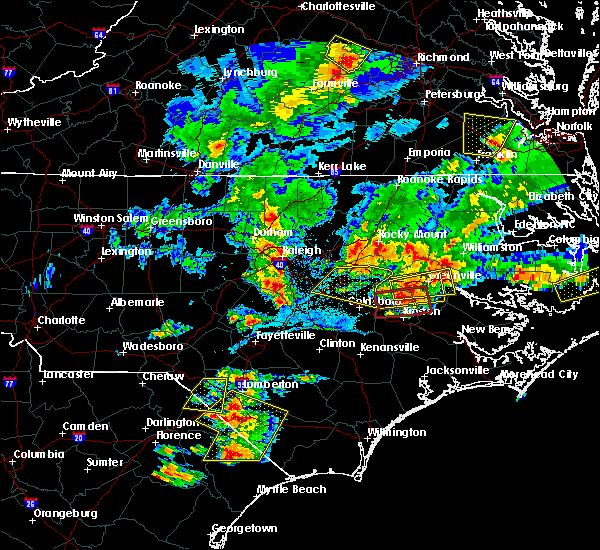 Radar Image for Severe Thunderstorms near Smithfield, NC at 5/31/2019 8:11 PM EDT