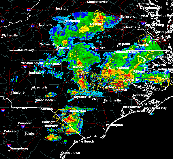 Radar Image for Severe Thunderstorms near Smithfield, NC at 5/31/2019 8:16 PM EDT