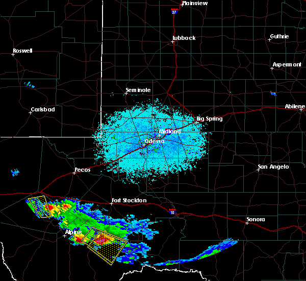 Radar Image for Severe Thunderstorms near Marathon, TX at 5/31/2019 7:30 PM CDT