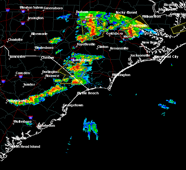 Radar Image for Severe Thunderstorms near North Myrtle Beach, SC at 5/31/2019 8:32 PM EDT